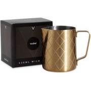 Cana pentru lapte VonShef 1000057, Inox, Design Auriu, Capacitate 330ml