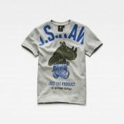 G-Star RAW Jongens T-shirt Grijs - Jongens - Grijs - Grootte: 128 116 110 104 98