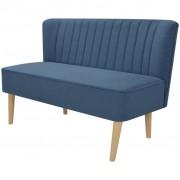 vidaXL Sofá de tecido 117x55,5x77 cm azul
