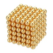 1000PCS Per Lot 5mm Magnetic Buck Ball Magnet Gold Color Intelligent Stress Reliever Toys Gift Gold