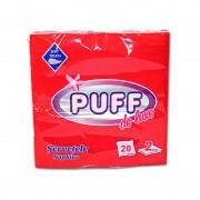 Servetele de masa Puff Rosu 20 file 2 straturi 38 x 38cm