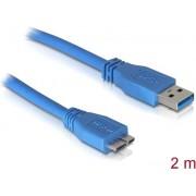 Kabel DELOCK, USB 3.0, USB-A (M) na micro USB 3.0 (M), 2m