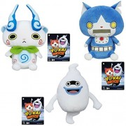 Yokai Watch Yo-Kai Plush Soft Toys Figures Dolls 3 Pack: Komasan, Whisper, Robonyan