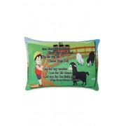 Deals India baa baa black sheep poem cushion (15x10 Inch)