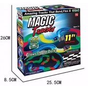Kids_Bazar Glows Track in Dark Magic Tracks Race Set (pack of 1 set)165 pieces of Glow Track!