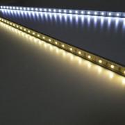 Banda LED PNI B30WW rigida de interior culoare alb cald 0.5m alimentare 12V PNI-B30WW