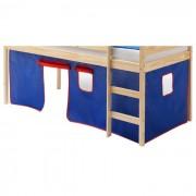 IDIMEX Rideaux MAX pour lit superposé ou surélevé, bleu/rouge