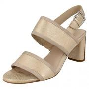 Clarks Women's Amali Ava Beige Leather Fashion Sandals - 7 UK/India (41 EU)