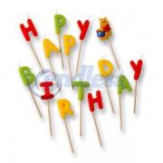 Set lumanari Happy Birthday Winnie the Pooh