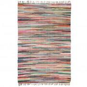 vidaXL Ръчно тъкан Chindi килим, 120x170 см, многоцветен