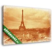 Az Eiffel- torony antikolva (40x25 cm, Vászonkép )