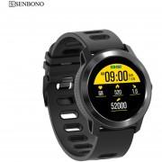 Reloj inteligente SENBONO S08 Plus IP68 a prueba de agua para hombre, Monitor de ritmo cardíaco, ra