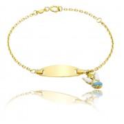 Bratara pentru Copii Borealy Aur Galben 9 K Angel Charm