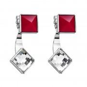 Cercei cu cristale Swarovski FaBOS, Crystal / Red 7440-6245-03