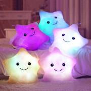 Hot Colorful Cute Luminous Pillow Christmas Toy Led Light Plush Pillow Stars Kids Dolls Stuffed Toys for Children Birthday Gift