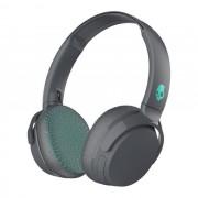 HEADPHONES, SkullCandy Riff, Wireless, microphone, Сив/Светлозелен (S5PXW-L672)
