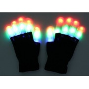 Zicome Led (Gloves Finger Shining) Style Party Light Show Gloves 6 Flashing Modes. The Best Gloving & Lightshow Dancing Gloves For Clubbing, Rave, Birthday, Disco, Dubstep Party & Stage Performances