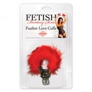 FF Feather Love Cuffs Red