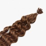 Rapunzel® Extensions Naturali Nail Hair Original Ricci 5.4 Copper Brown 40 cm