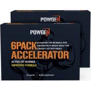 PowGen 2x 6Pack Accelerator IMPROVED: pro rychlejší metabolismus a vyrýsování břišních svalů. Program na 2 měsíce.