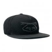 Nasty Pig Snout Logo Mesh Flatbrim Snapback Cap Hat Black/Black 8121