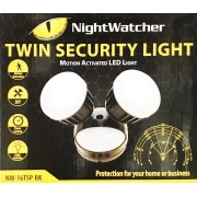 NightWatcher Twin Security Motion Activity LED Light NW-16TSP-BK Black
