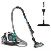 Прахосмукачка без торба, Philips PowerPro Active, 650W, PowerCyclone 7, Филтър против алергии (FC9553/09)