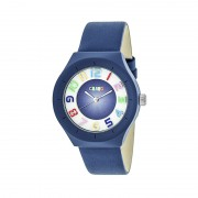 Crayo Atomic Leather-Band Watch - Blue CRACR3506