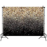 Zhyxia Zhy 7X5FT Gold Glitter Sequin Spot Backdrops Starry Sky Shining Photo Background Fiesta de cumpleaños Boda Niños Recién Nacidos Fotografía Studio Props ABC024