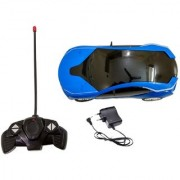 New Pinch Remote Control Rechargeable 3D Lighting Effect Racing Car with 4 Functions (Multicolour) Best Gift for Kids .