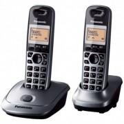 "Teléfonos Fijo Panasonic KX-TG2512SPM DUO LCD 1.4"" Gris"