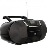 DAB+ CD-radio Dual DAB-P 200 AUX, CD, DAB+, kazetar, UKV, USB crne boje