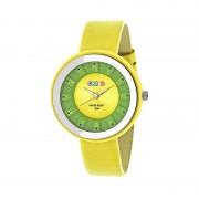 Crayo Celebration Leather-Band Watch - Yellow CRACR3403