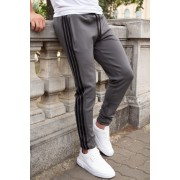 Pantaloni Stripes Gri-Negru