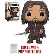 Funko Pop Movies: The Lord of Rings - Aragorn Vinyl Figure (Bundled with Box Protector Case)
