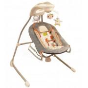 Baby Mix ProDesign 2in1 elektromos, távirányítós babahinta szürke színben