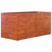 vidaXL Jardinieră de grădină, lemn de acacia, 200 x 100 x 100 cm