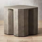 Hex Large Grey Side Table by CB2