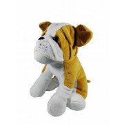 A-Mart soft toy bull dog sitting brown for girls kids 10 inch