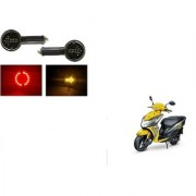 KunjZone Arrow LED Side Indicator for Red&Yellow Set Of 2 For Honda Dio