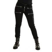 Rockowe spodnie z zamkami AFTER