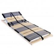 vidaXL Подматрачна рамка с 42 ламела, 7 зони, 80x200 см, FSC дърво