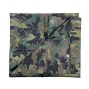Merkloos Groene camouflage afdekzeil / dekkleed 2.85 x 4 m