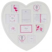 Atmosphera Créateur d'intérieur Obdélníkový rámeček pro 10 fotek ROMANCE, fotorámeček, rámeček na fotky - mini galerie na fotky, srdce