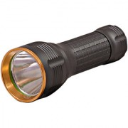 GOR Sun 300M Non-Removable Battery Rechargeable LED Flashlight Torch 5.6 Inch Silver