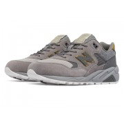 New Balance Women's 580 Molten Metal Grey with Gold