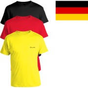 Pack of 3 - 100% Cotton - Mens Plain T Shirt for Daily Use in Black Yellow & Red Color - Round Neck & Half Slevees in Size S (Small) by Semantic