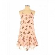 Abercrombie & Fitch Casual Dress - A-Line: Pink Floral Dresses - Used - Size Small