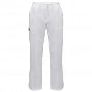 vidaXL 2db L-es fehér szakácsnadrág sztreccs övrésszel és zsinórral