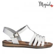Sandale dama, din piele naturala 258306/Alb/Elis
